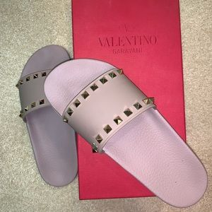 Valentino Rock stud slides size40